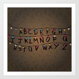 Christmas bulbs alphabet Art Print