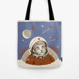 Soviet Space Cat Tote Bag