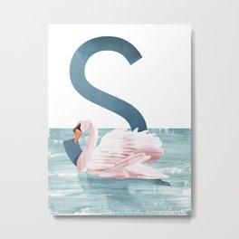S - Swan Metal Print