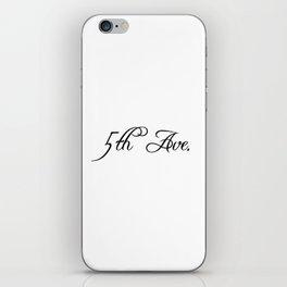 5th Avenue iPhone Skin