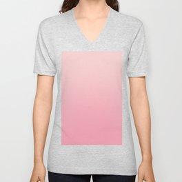 Ombre Millennial Pink Rose Quartz Rose Gold Pink Dogwood Unisex V-Neck