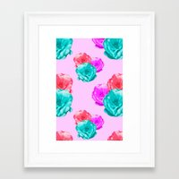 peonies Framed Art Prints featuring Peonies by Aneela Rashid