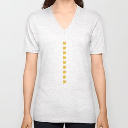 EMOJI THINKER THINK Unisex V-Neck