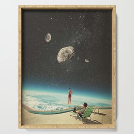 Summer with a Chance of Asteroids Serving Tray