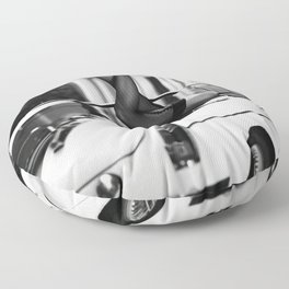 High Heels in Classic Car Poster, Quality Print, Black and White Modern Art Photography Pictur Floor Pillow