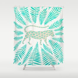 Jaguar – Turquoise & Mint Palette Shower Curtain