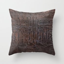 Underneath the Blindfold Throw Pillow