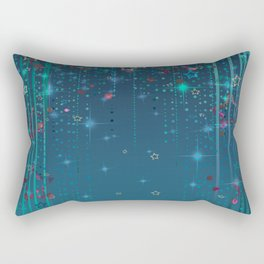 Magic fairy abstract shiny background with stars Rectangular Pillow