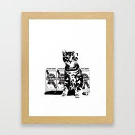 Bodega Kitty Framed Art Print