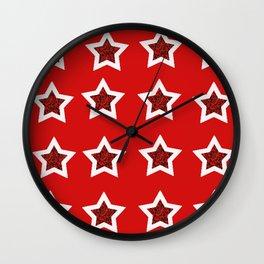 red star 6 Wall Clock