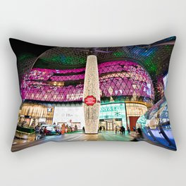 Glimmering Christmas Shopping Fronts Rectangular Pillow