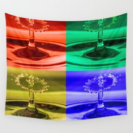 Pop Art Water Drops 1 Wall Tapestry