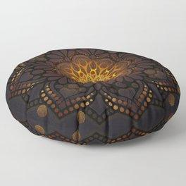 """Warm light Moroccan lantern Mandala"" Floor Pillow"