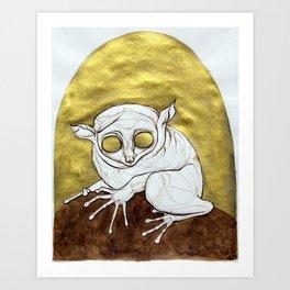 Golden Tarsier Art Print