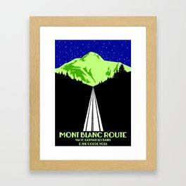 Mont Blanc Alps railway route Framed Art Print
