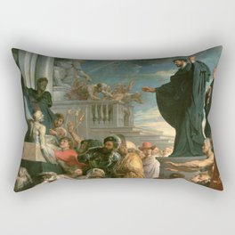 The miracles of St. Francis Xavier - Peter Paul Rubens Rectangular Pillow
