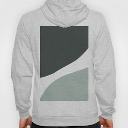Abstract mid-century modern in green and grey Hoody