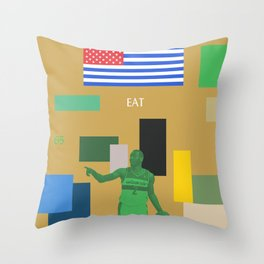 The God That Was Swallowed By The Sun Throw Pillow