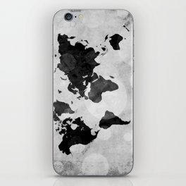 World map - desaturated iPhone Skin