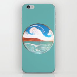 Painting of the Ocean on a Penny Print iPhone Skin