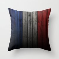 france Throw Pillows featuring France by Nicklas Gustafsson