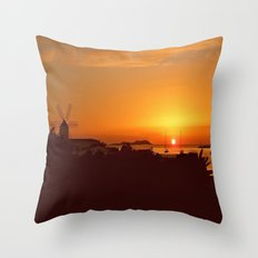 Ibiza Sunset. Throw Pillow