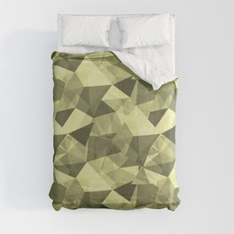 Abstract Geometrical Triangle Patterns 4 VA Lime Green - Lime Mousse - Bright Cactus Green - Celery Comforters