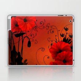 Poppy flowers, sunset Laptop & iPad Skin