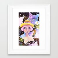 sassy Framed Art Prints featuring Sassy Girl by Judy Skowron