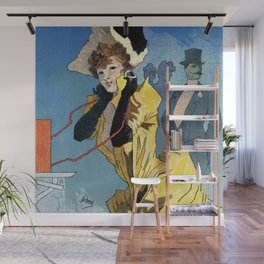 1896 Theatrophone by Jules Chéret Wall Mural