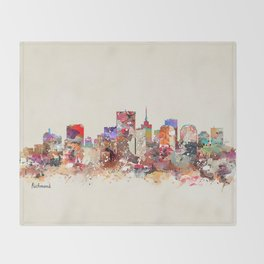richmond virginia  Throw Blanket