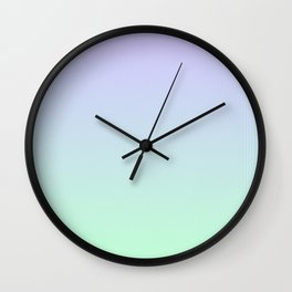 Mint Green and Lavender Ombre - Flipped Wall Clock