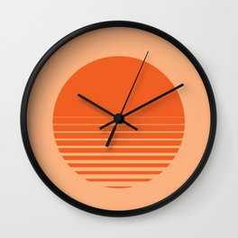 Sunrise/ Sunset Horizon Lines Wall Clock