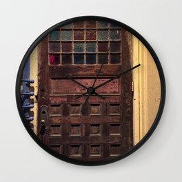 Old door in Cali Wall Clock