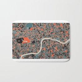 London Multicoloured Print Bath Mat