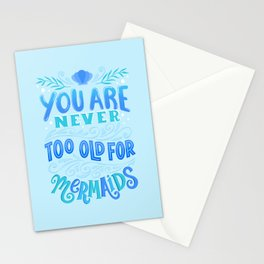 Never Too Old for Mermaids Stationery Cards