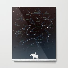 Falling star constellation Metal Print