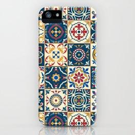 Moroccan Tiles Pattern Multicolor iPhone Case
