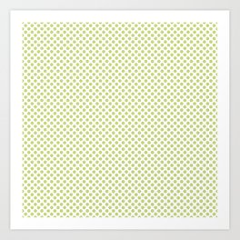 Daiquiri Green Polka Dots Art Print