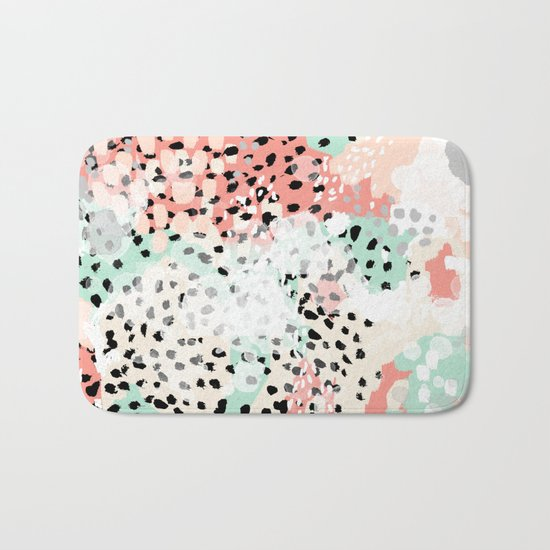 Breah - abstract painting pastel colors nursery baby gender neutral hipster Bath Mat