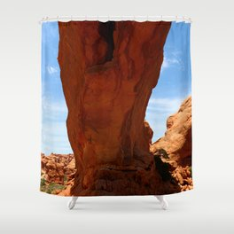 The Base Of An Arch Shower Curtain