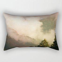 fog competes with sun Rectangular Pillow