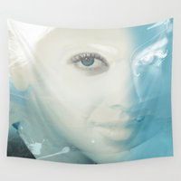 virgo Wall Tapestries featuring Virgo by Vin Zzep