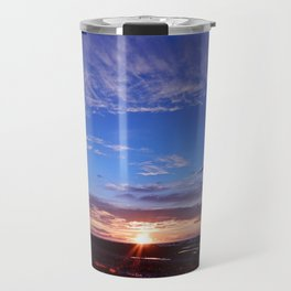 Sunset and Blue Sky Travel Mug