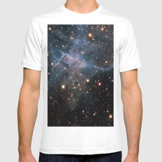Mystic Mountain Nebula White SMALL Mens Fitted Tee