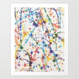 Rainbow Splatter Art Print