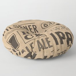 Type beer Floor Pillow
