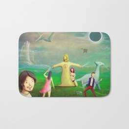 Jesus Rave Dinosaur Party Bath Mat