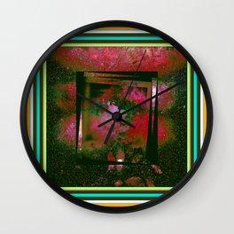 Vintage Paintig Abstract  Wall Clock