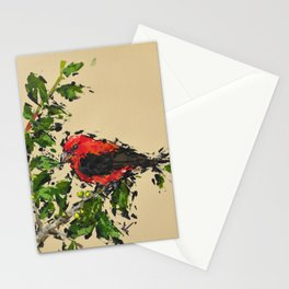 Scarlet tanager Stationery Cards